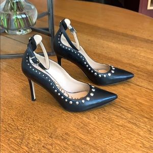 Gorgeous Sam Edelman studded, black pumps.